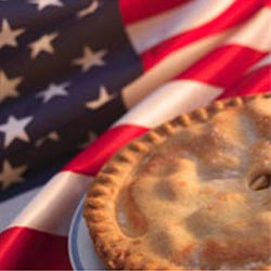 american flag and apple pie