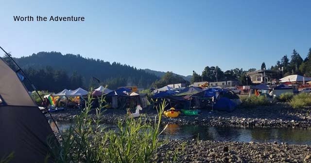 Camping on Eel River