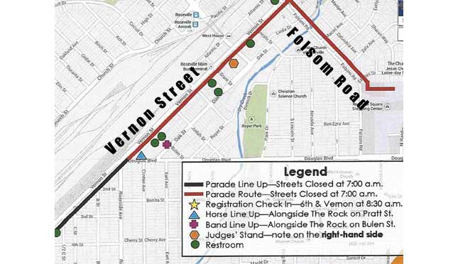 Roseville Holiday Parade Route