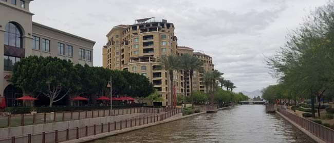 Scottsdale waterfront canal