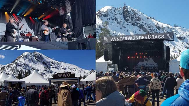 Sam Bush, crowd and WinterWonderGrass