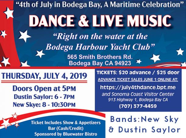 Bodega Bay July 4th Maritime Celebration Dance - Rocklin and Roseville Today