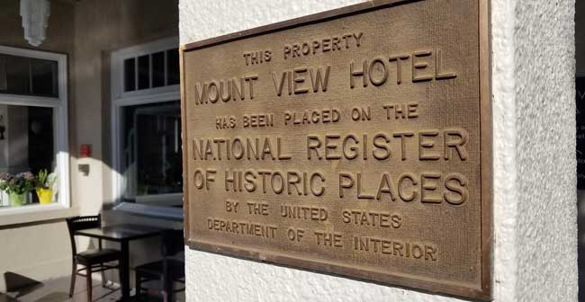 Mount View Hotel National register of Historic Places