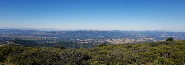 Panoramic View of Mt Diablo