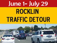 Rocklin Traffic Detour
