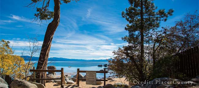 Speedboat Beach on Lake Tahoe