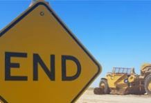 Sign and construction equipment