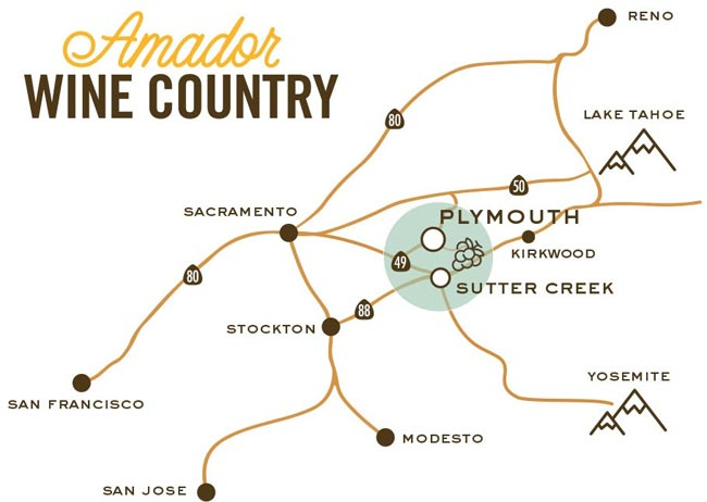 Amador Wine Country Map