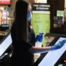 Movie theatre cleaning