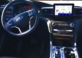 Interior of 2020 Ford Explorer