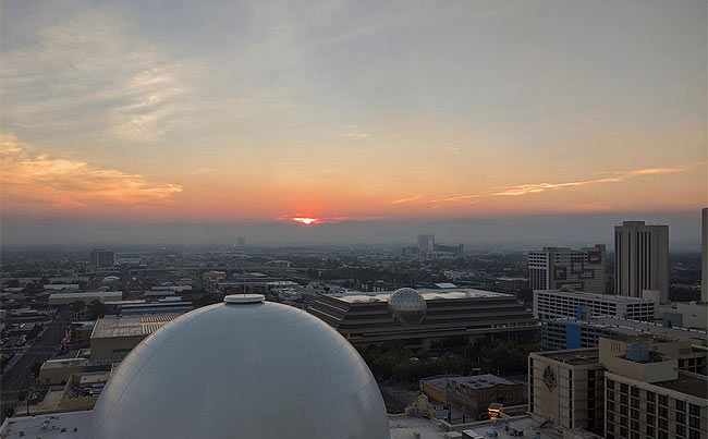 Sunrise from Silver Legacy