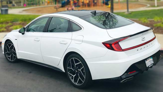 2021 Hyundai Sonata in white