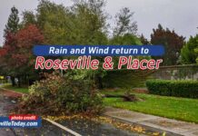 Rain and Wind in Roseville