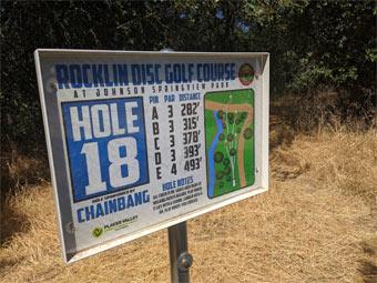 Rocklin disc golf course